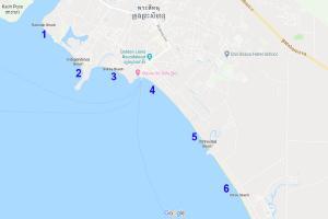 1908 หาดโอเชอเตียล สีหนุวิลล์ กัมพูชา (Ochheuteal Beach, Sihanoukville, Cambodia) ประเทศกัมพูชา